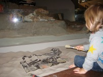 After watching Nora be an archeologist we have come to the conclusion that it might not be for her- at least at this age.