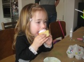 Nora's favourite part was the cupcakes.