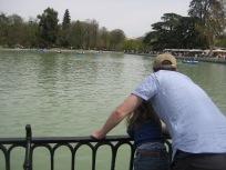 Retiro Park, Madrid watching the row boats.