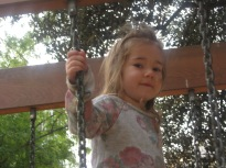 Nora's current favourite playground.
