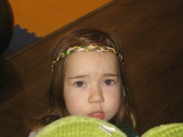 Part princess and part dragon to celebrate St. Jordi day.