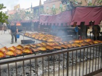 Just a one of places cooking meat.