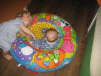 Tabitha saying hello to Max in Toddler Sense.